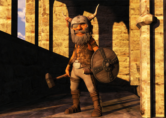 Today's image is Zwen; a dwarf warrior that my son will soon free in his game of Dungeon Squad.